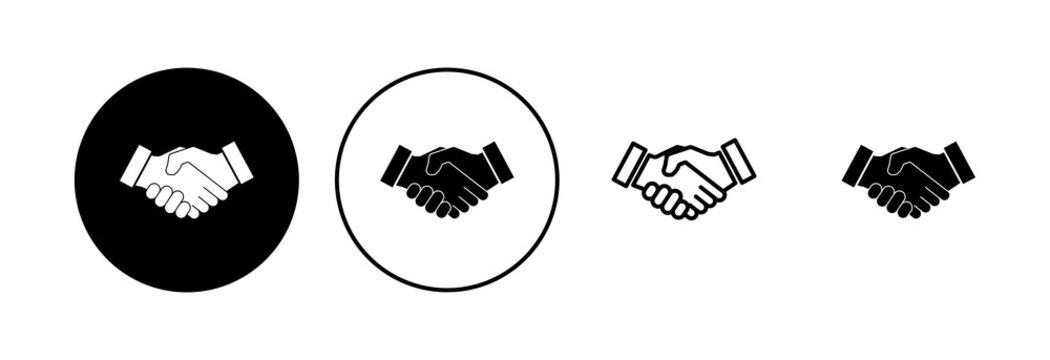 Handshake icon set. business handshake. contact agreement