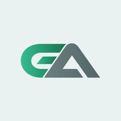 Fototapeta modern ga letter logo design  obraz