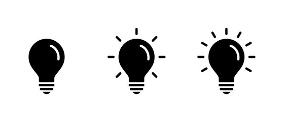 Fototapeta Light Bulb icon set, Idea icon symbol vector obraz