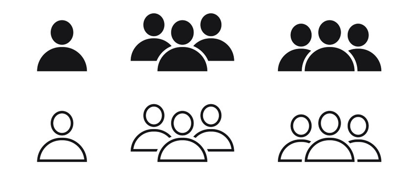 User  icon and people line icon, team icon, group icon, outline and solid vector illustration, linear pictogram isolated.