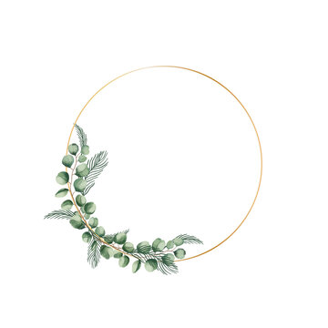 Floral wreath made of grass in circle