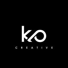 Fototapeta KO Letter Initial Logo Design Template Vector Illustration obraz