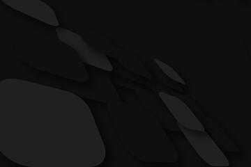 Czarne abstrakcje 3d