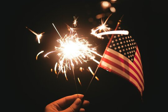 time lapse photography of diamond and USA flag