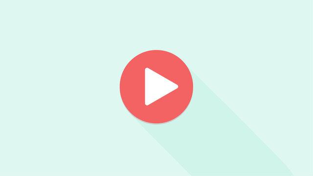 動画・音楽などの再生ボタンのアイコン:赤丸に白矢印 - HDV720比率