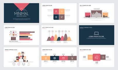 Obraz Infographics slide template 4 - fototapety do salonu