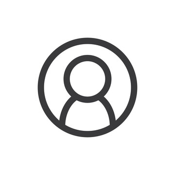 User icon. Human person symbol. Avatar log in vector sign