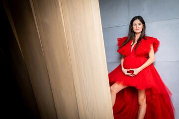 Kobieta w ciąży portret