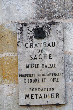 Balzac museum of Chateau de Sache. The chateau was built in the Renaissance, Honore de Balzac made regular visit to Sache between 1827 and 1839, France