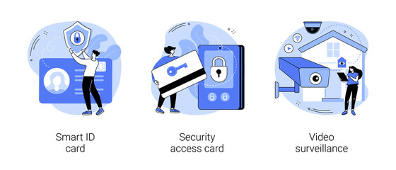 Obraz Security and identity verification abstract concept vector illustrations. - fototapety do salonu