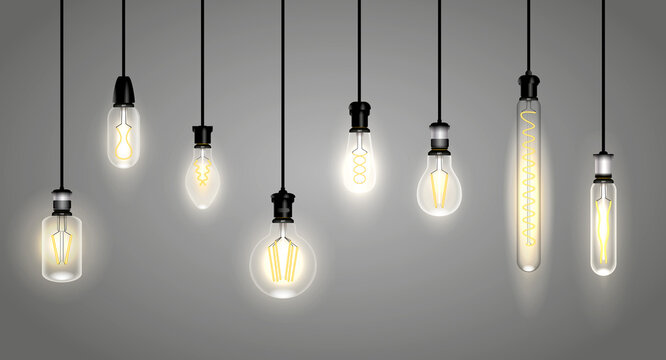 realistic incandescent lamps or hang bulb wire light