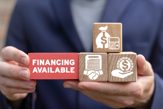 Business concept of financing available.