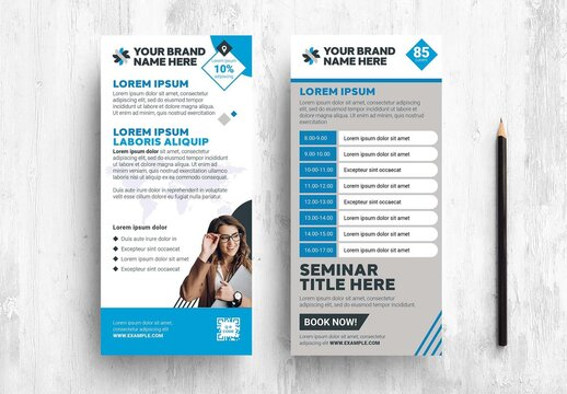 Corporate Event Schedule Card for Business Corporation Exhibition