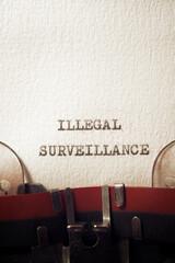Illegal surveillance concept - fototapety na wymiar