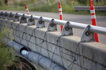 Concrete bridge in the construction process
