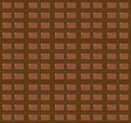 Fototapeta Milk chocolate bar seamless pattern. Vector dark chocolate repeated tile background obraz