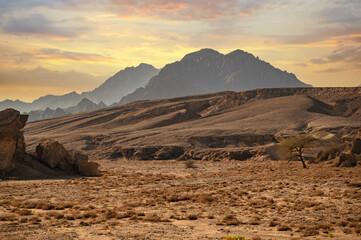 sinai mountains. mountains Sharm el Sheikh at the southern tip of the Sinai Peninsula. Mountains of Sinai peninsula. Sinai desert. Egypt. Magnificent Landscape