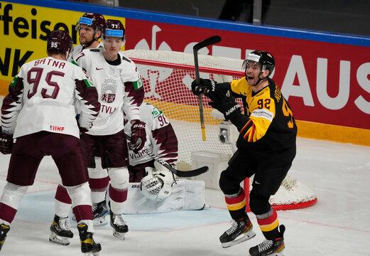 IIHF World Ice Hockey Championship 2021 - Group B - Germany v Latvia