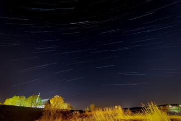Fototapeta Ruch ziemi na tle gwiazd obraz