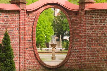 Obraz Fontanny w parku dworskim w Iłowej. - fototapety do salonu