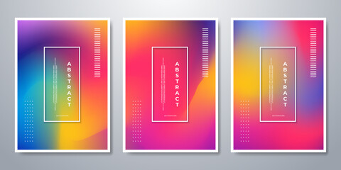 Obraz Abstract blurred gradient background. Colorful smooth banner template. Mesh backdrop with bright colors. Vector - fototapety do salonu