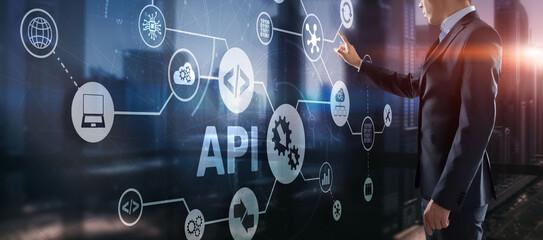 Application Programming Interface. API software development tool. Information technology concept....