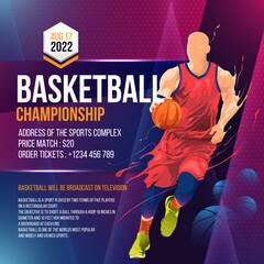 Estores personalizados esportes com sua foto basketball tournament social media post flyer template