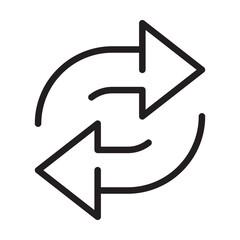 Fototapeta replace icon vector double reverse arrow exchange linear sign for graphic design, logo, web site, social media, mobile app, ui illustration. obraz