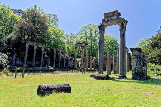 Ruined Roman temple in Virginia Water - UK