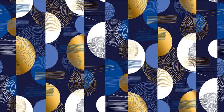 Abstract geometric mid-century modern pattern