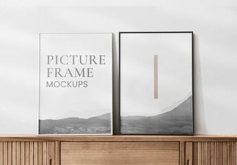 Fototapeta Picture Frame Mockups Hanging on the Wall obraz