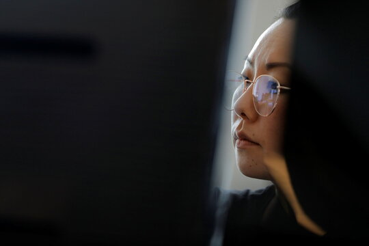 Co-founder and Co-CEO Anna Eunhae Lee works at her desk at gCreate, a 3D printer manufacturer, in New York City