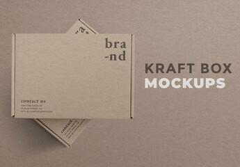 Fototapeta Kraft Box Packaging Mockup obraz