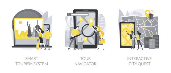 Obraz Travel experience abstract concept vector illustrations. - fototapety do salonu