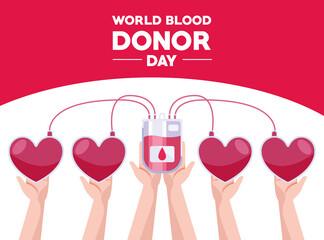 Fototapeta blood donor day card obraz