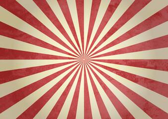 Obraz レトロ 集中線 放射線 背景 壁紙 赤 - fototapety do salonu