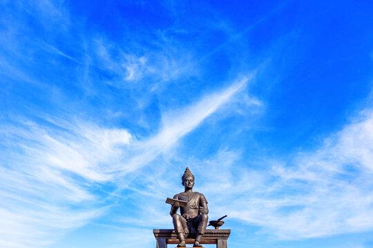 Monument Of King Ramkhamhaeng The Great At.Sukhothai Historical Park Thailand