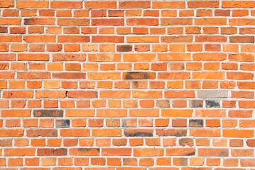 Ściana z czerwonej cegły