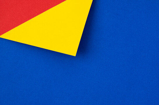 Abstract red yellow and blue geometry paper texture background