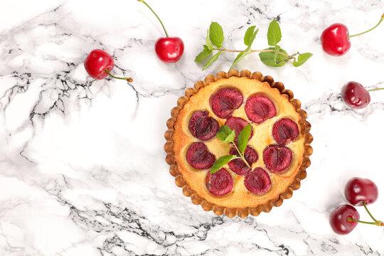 cherry fruit clafoutis- top view