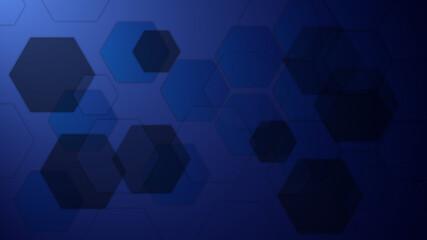 Abstract blue hexagon Background - fototapety na wymiar