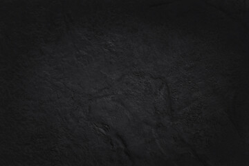 Obraz Dark grey black slate texture in natural pattern with high resolution for background and design art work. Black stone wall. - fototapety do salonu