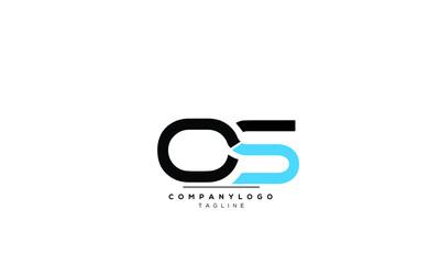 Fototapeta  Alphabet OS , SO  initial Letter Monogram Icon Logo vector illustration  obraz