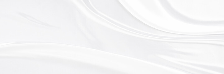 Obraz White gray satin texture that is white silver fabric silk panorama background with beautiful soft blur pattern natural. - fototapety do salonu