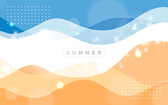 Abstract summer background wavy color