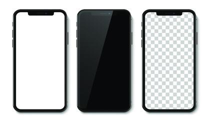 Fototapeta Mockup smartphone vector mobile realistic isolated on white background obraz