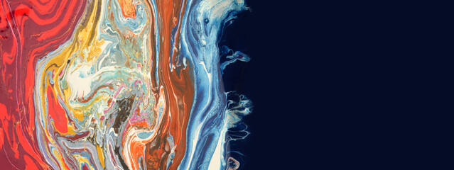 Art Abstract flow acrylic and watercolor marble blot painting.  Color wave modern; pop-art...