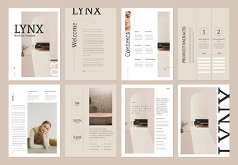 Fototapeta Lynx Brochure Layout obraz