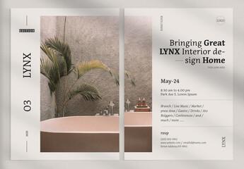 Fototapeta Lynx Event Flyer obraz