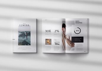 Fototapeta Lumina Magazine Layout obraz